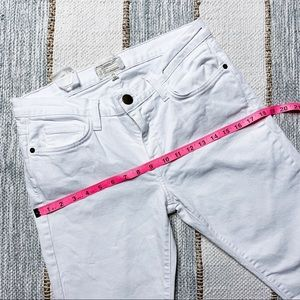 Current/Elliott Jeans - Current/ Elliott The Cropped Straight White Jeans